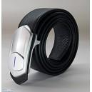 Kawawear i-belt - DL1-1 Silver - Black Litchi Texture